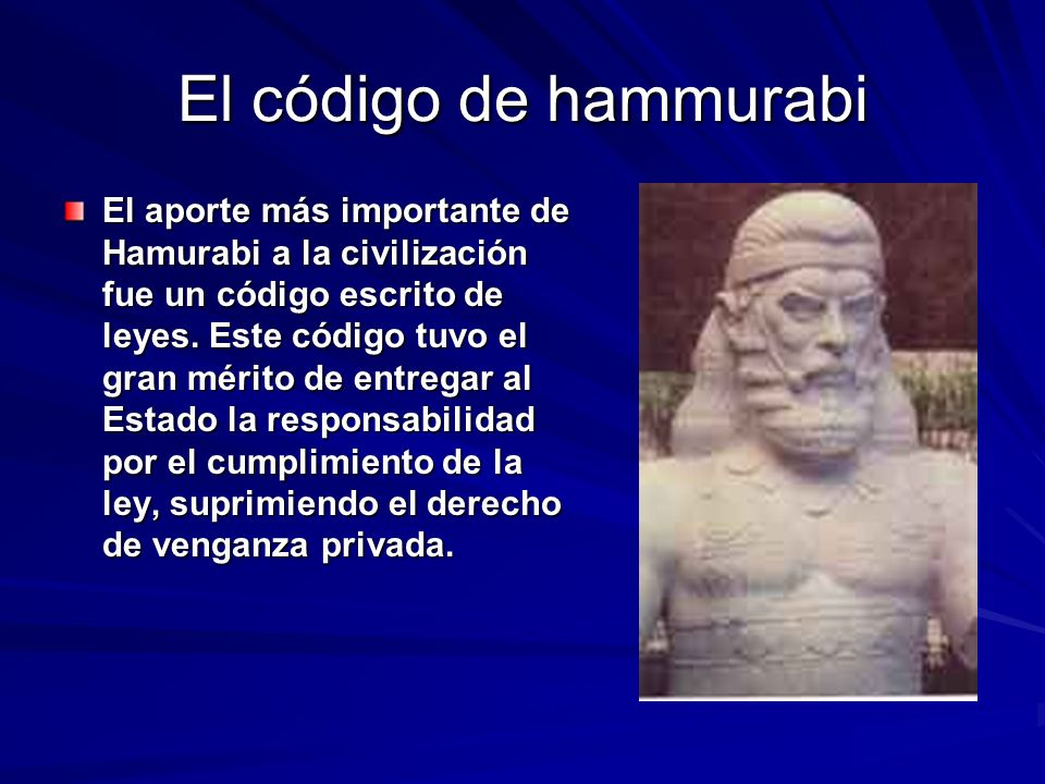El código de hammurabi