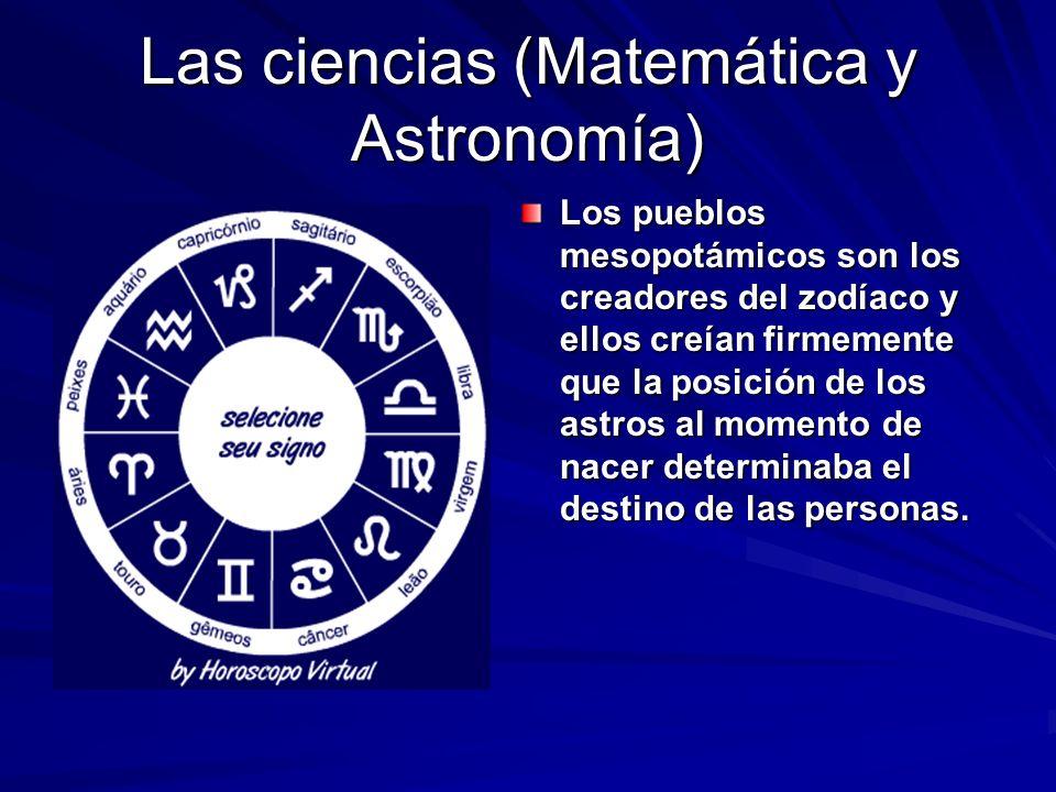 Las ciencias (Matemática y Astronomía)