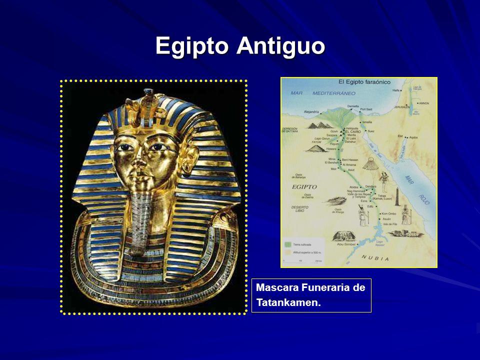 Egipto Antiguo Mascara Funeraria de Tatankamen.