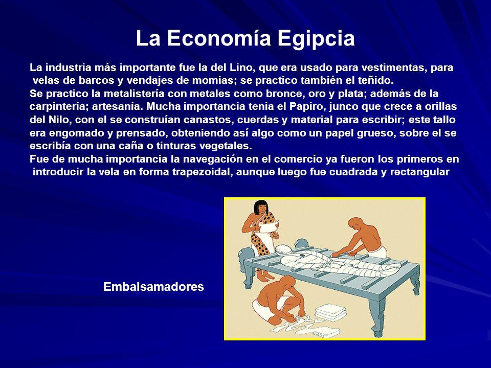 La Economía Egipcia Embalsamadores