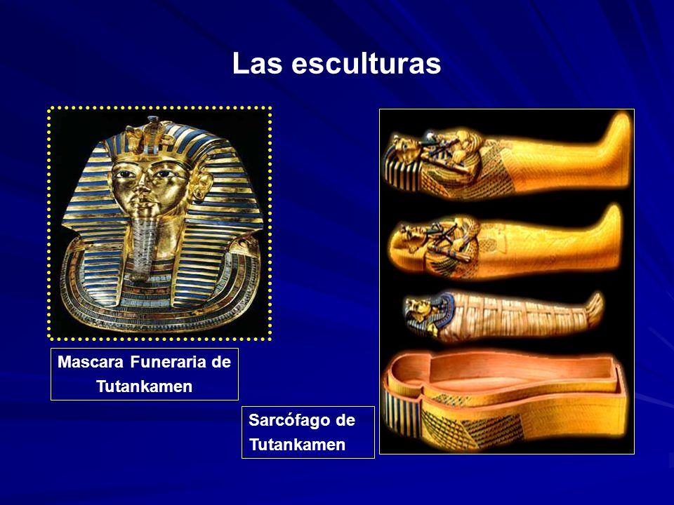 Las esculturas Mascara Funeraria de Tutankamen Sarcófago de Tutankamen