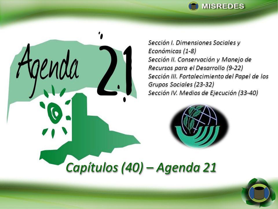 Sección I. Dimensiones Sociales y Económicas (1-8)