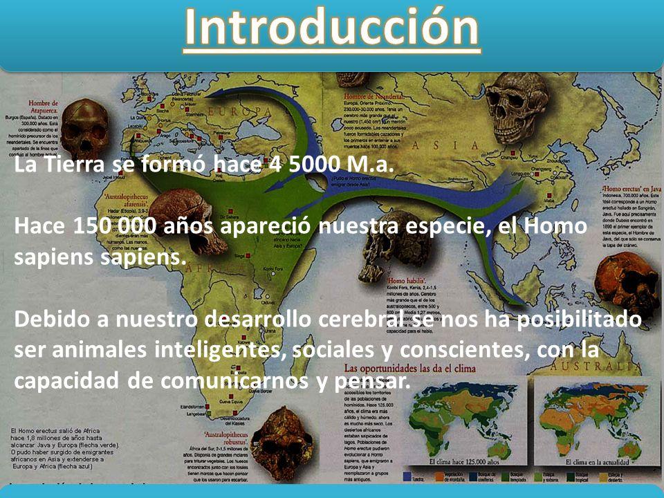 Introducción La Tierra se formó hace 4 5000 M.a.