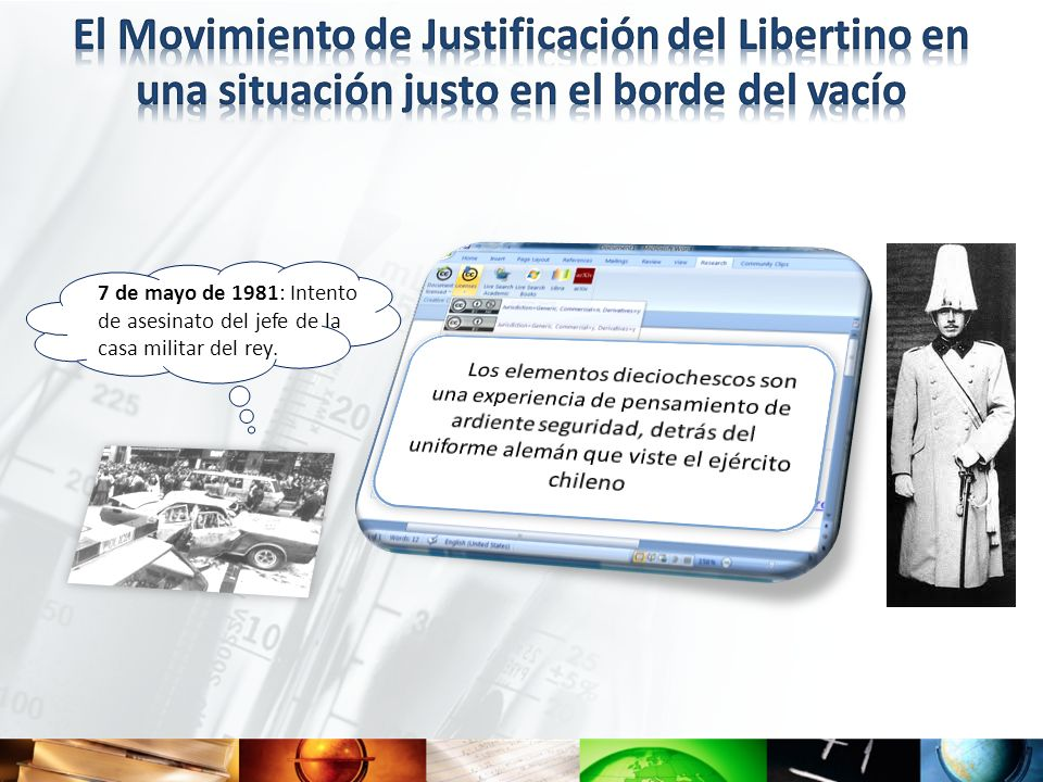 El Movimiento de Justificación del Libertino en una situación justo en el borde del vacío