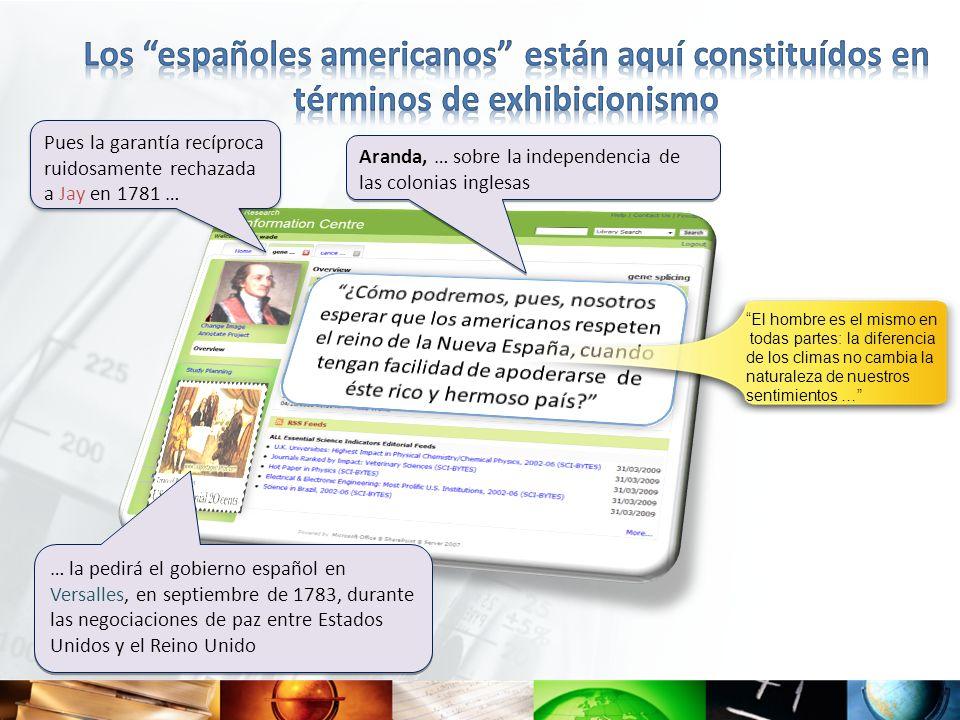 Los españoles americanos están aquí constituídos en términos de exhibicionismo