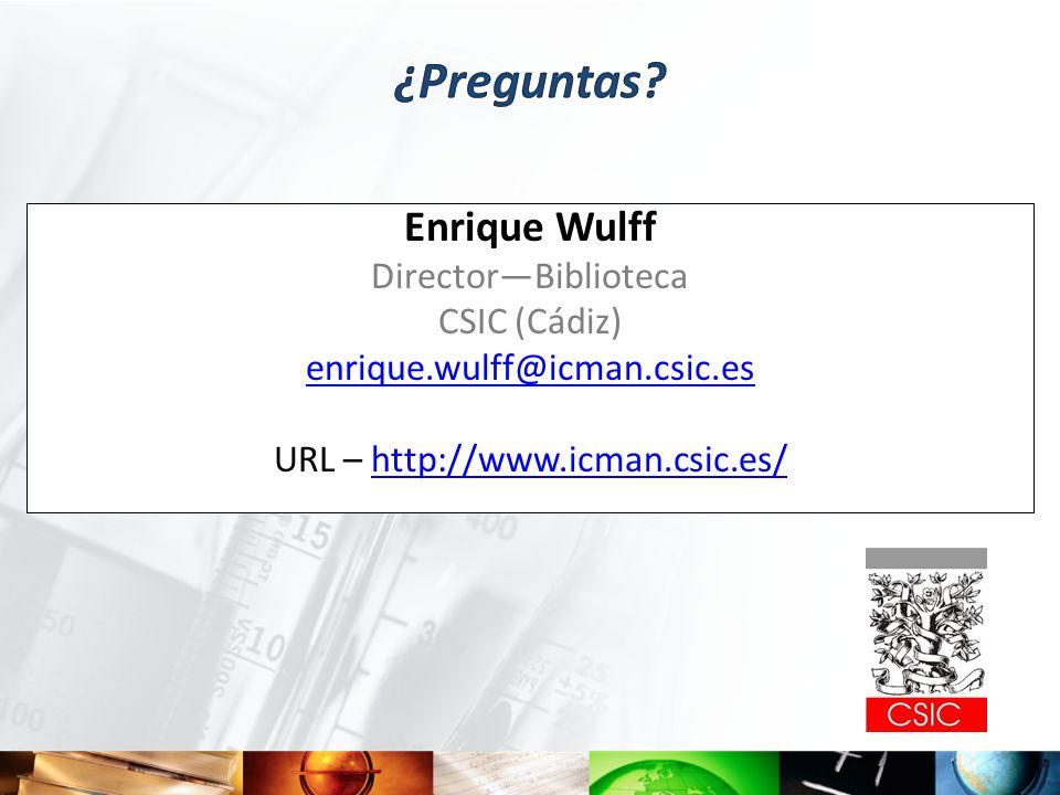 URL – http://www.icman.csic.es/