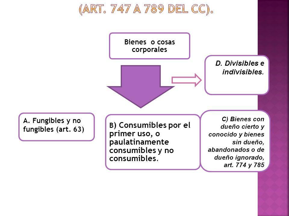 Clasificación de los bienes o cosas. (Art. 747 a 789 del Cc).