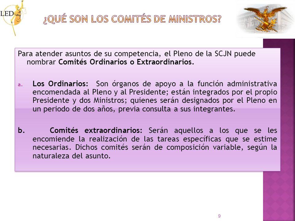 ¿Qué son los Comités de Ministros