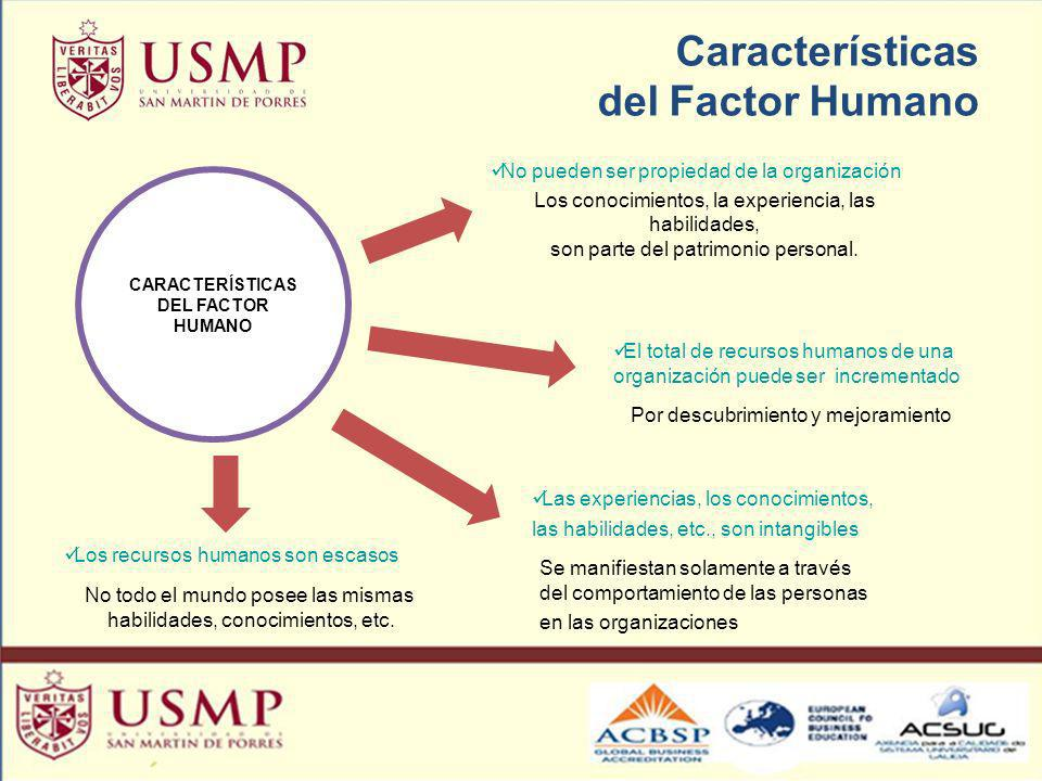 Características del Factor Humano