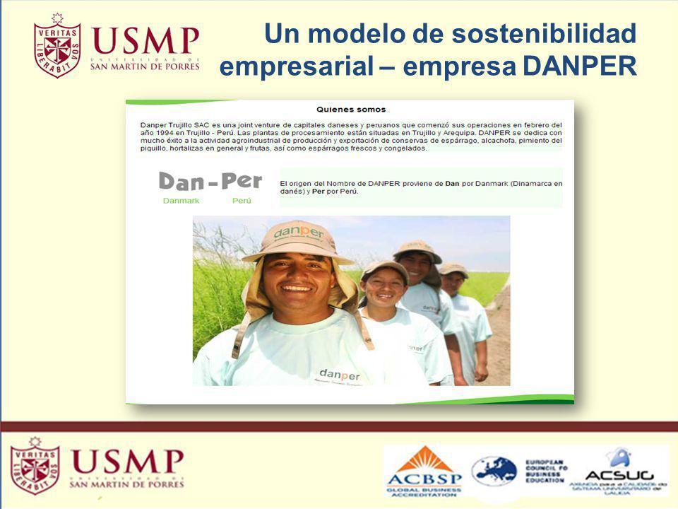 Un modelo de sostenibilidad empresarial – empresa DANPER