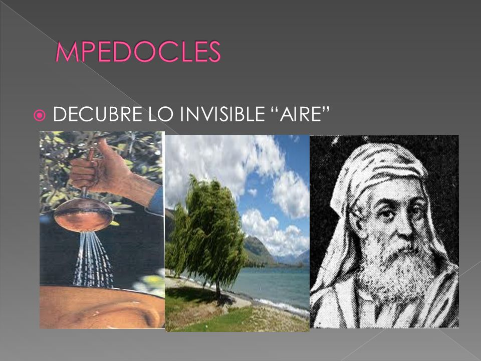 MPEDOCLES DECUBRE LO INVISIBLE AIRE