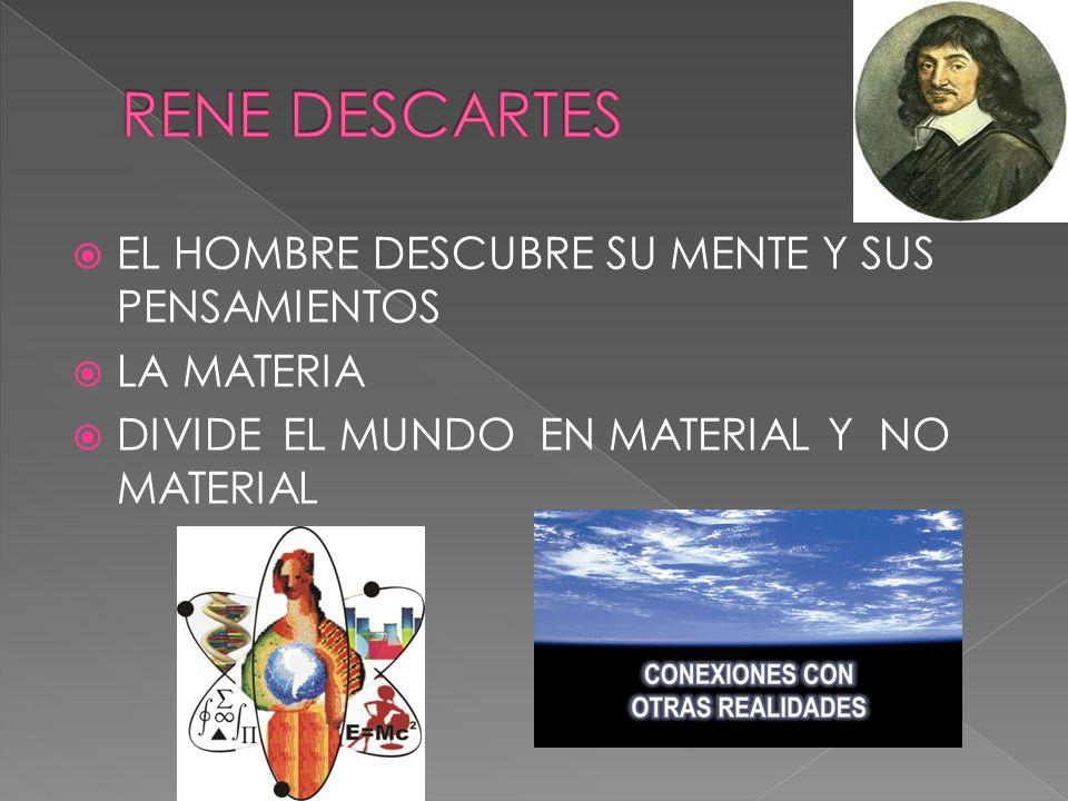 RENE DESCARTES EL HOMBRE DESCUBRE SU MENTE Y SUS PENSAMIENTOS