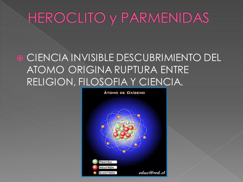 HEROCLITO y PARMENIDAS