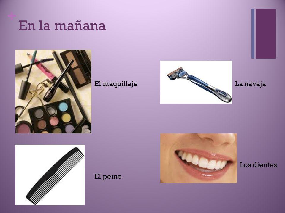 En la mañana El maquillaje La navaja Los dientes El peine