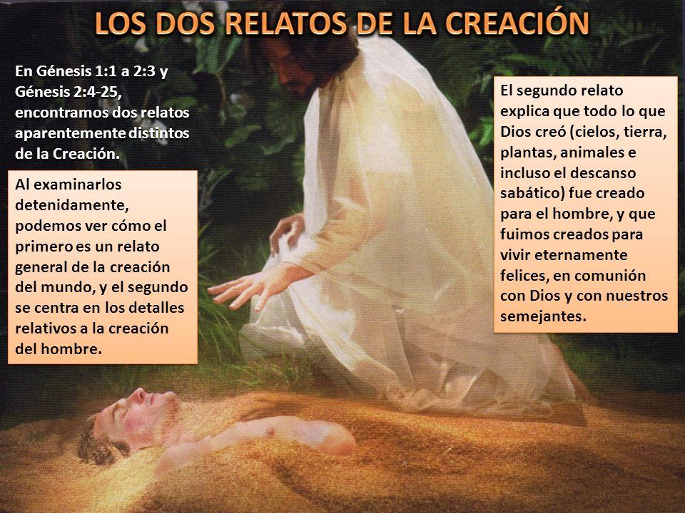 LOS DOS RELATOS DE LA CREACIÓN