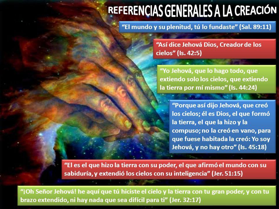 REFERENCIAS GENERALES A LA CREACIÓN