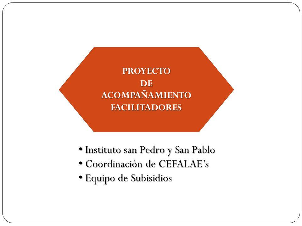 Instituto san Pedro y San Pablo Coordinación de CEFALAE's
