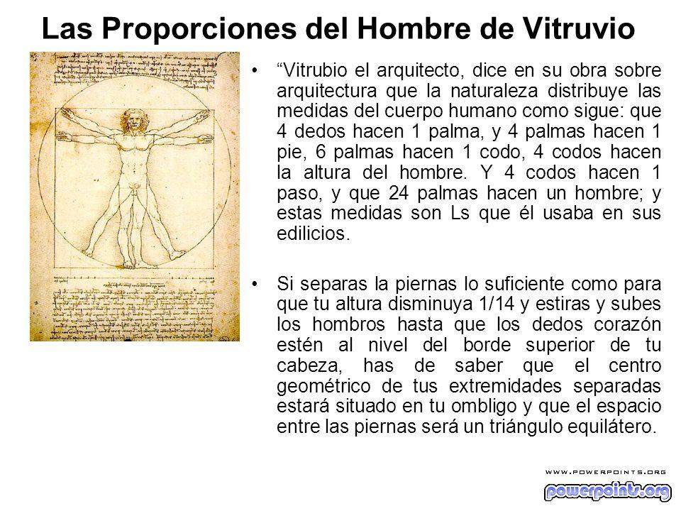 Las Proporciones del Hombre de Vitruvio