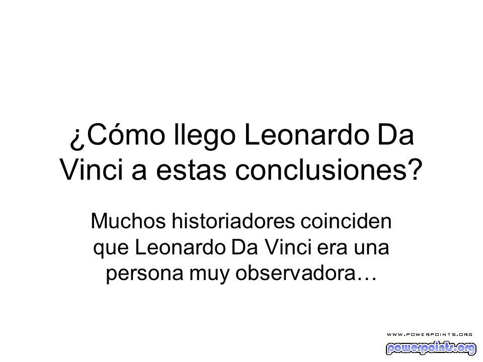 ¿Cómo llego Leonardo Da Vinci a estas conclusiones