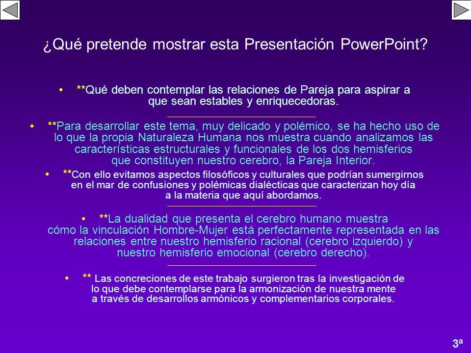 ¿Qué pretende mostrar esta Presentación PowerPoint