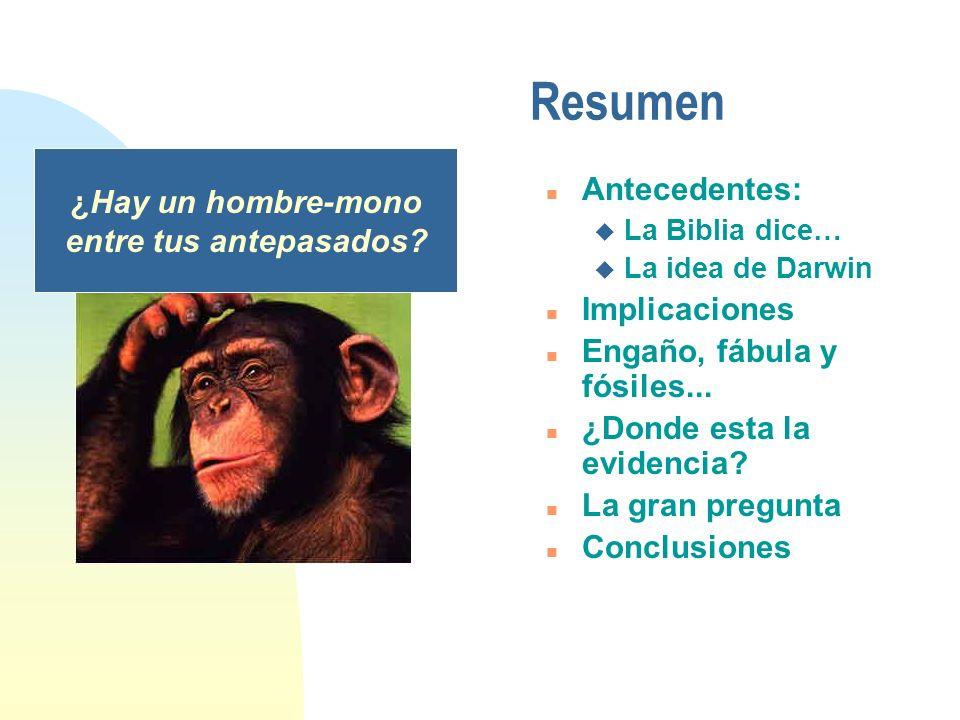 ¿Hay un hombre-mono entre tus antepasados