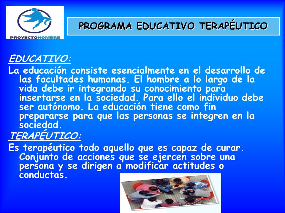 PROGRAMA EDUCATIVO TERAPÉUTICO