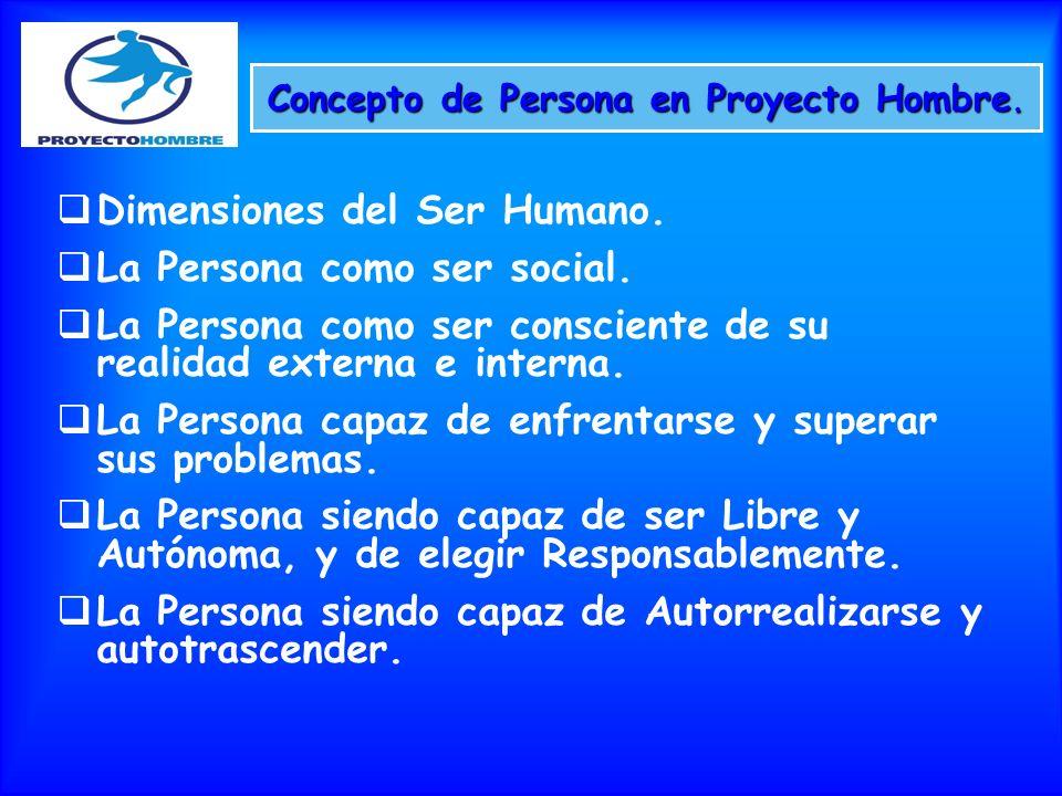 Concepto de Persona en Proyecto Hombre.