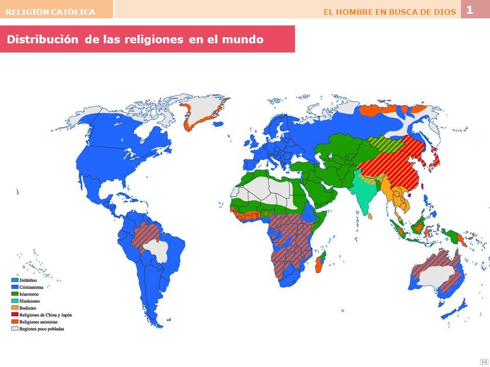 Distribución de las religiones en el mundo
