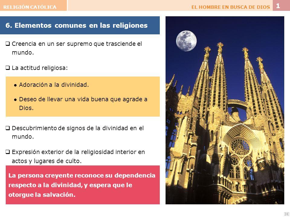 6. Elementos comunes en las religiones