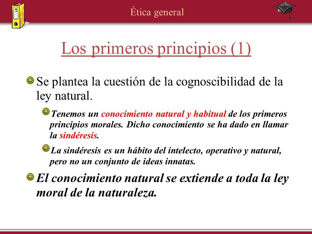 Los primeros principios (1)