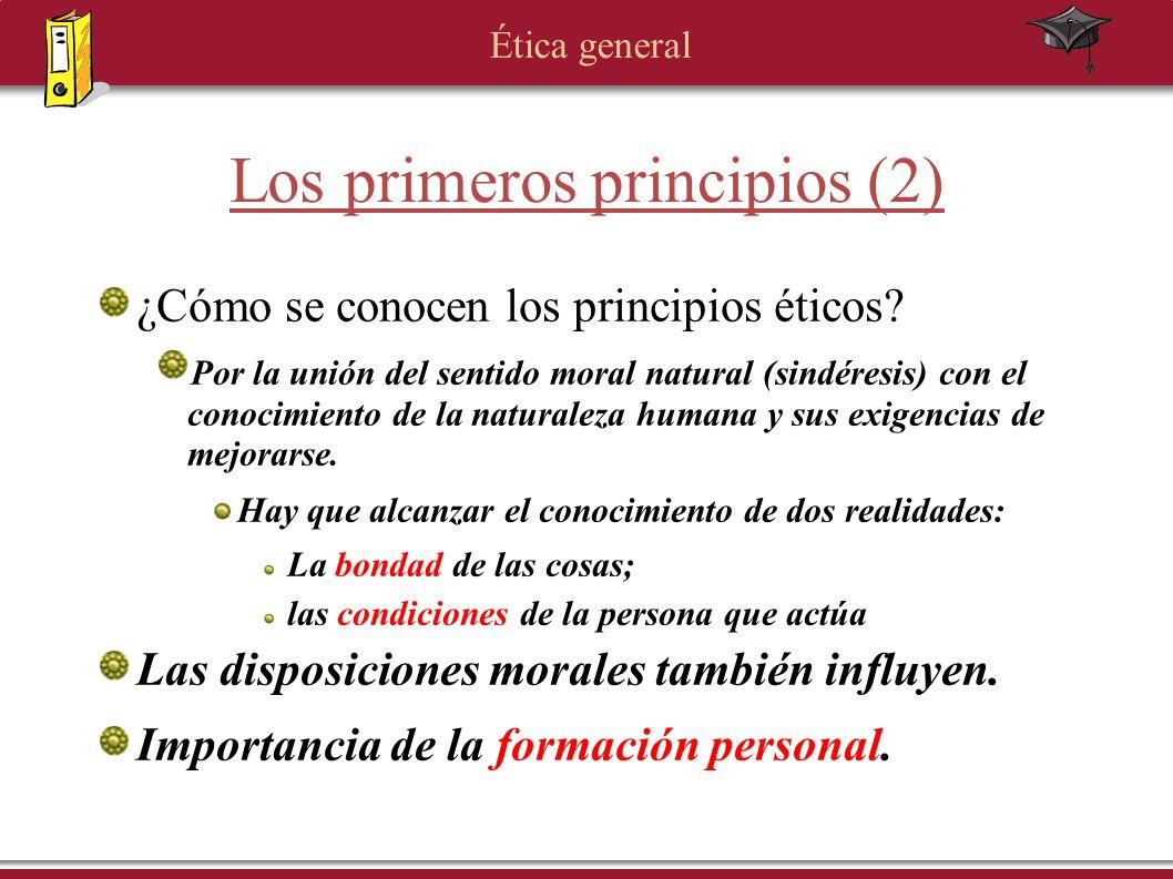 Los primeros principios (2)