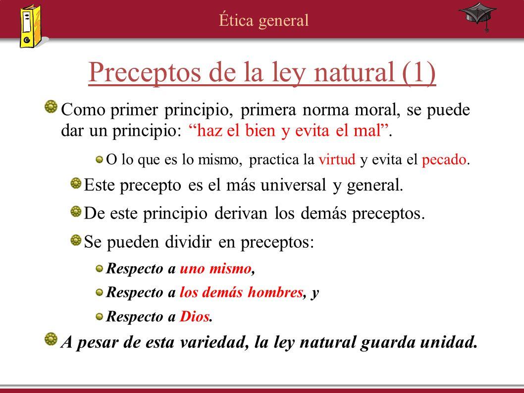 Preceptos de la ley natural (1)