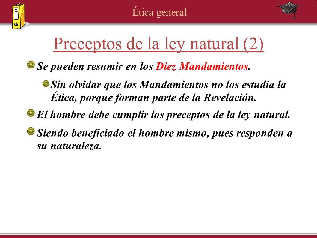Preceptos de la ley natural (2)