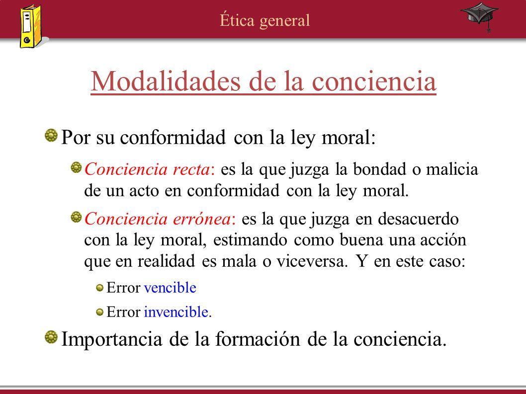 Modalidades de la conciencia