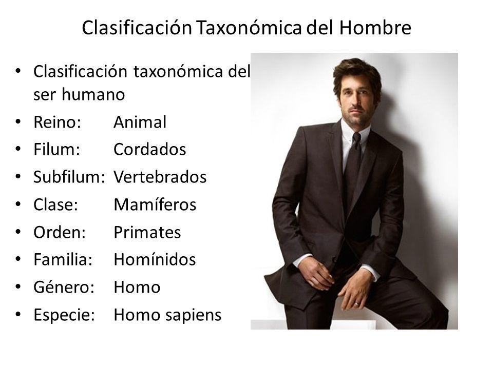 Clasificación Taxonómica del Hombre