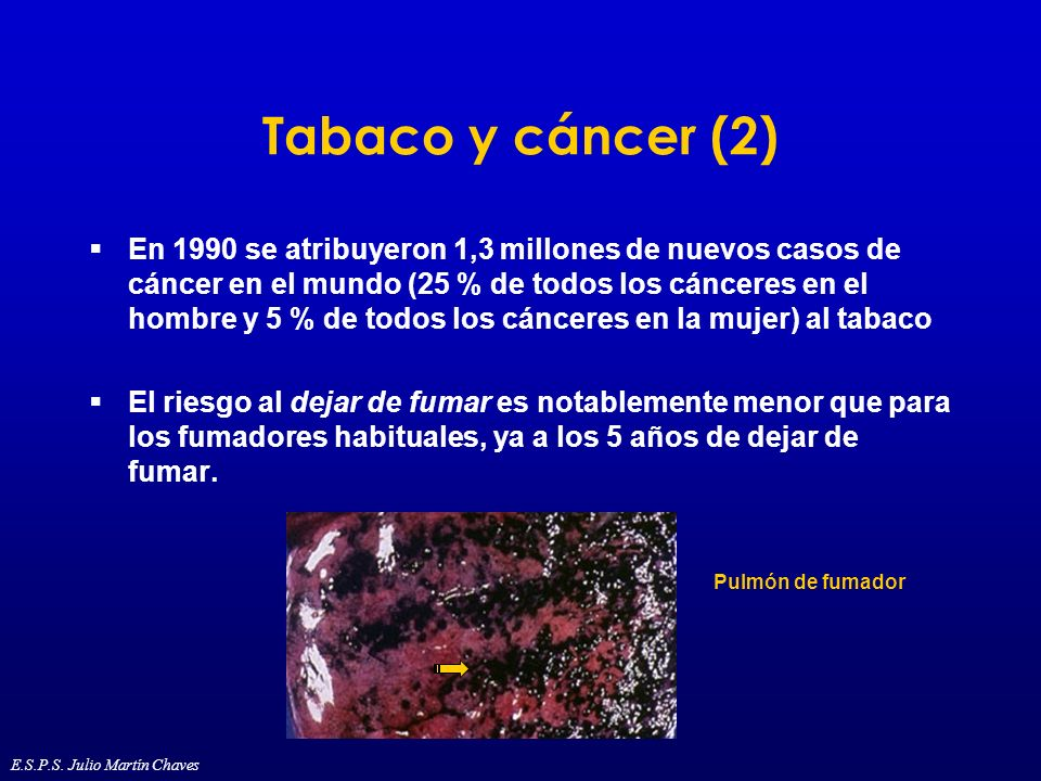 Tabaco y cáncer (2)