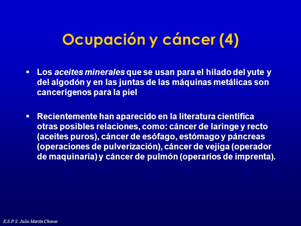 Ocupación y cáncer (4)