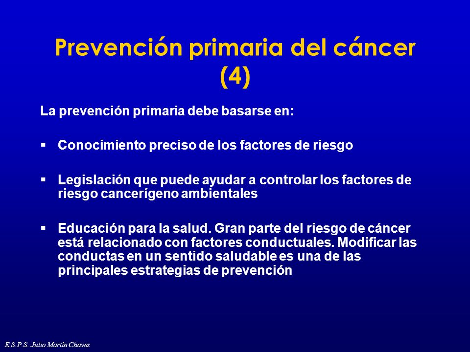 Prevención primaria del cáncer (4)