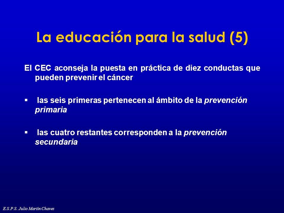 La educación para la salud (5)