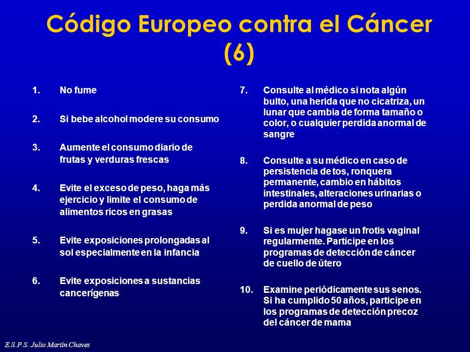 Código Europeo contra el Cáncer (6)