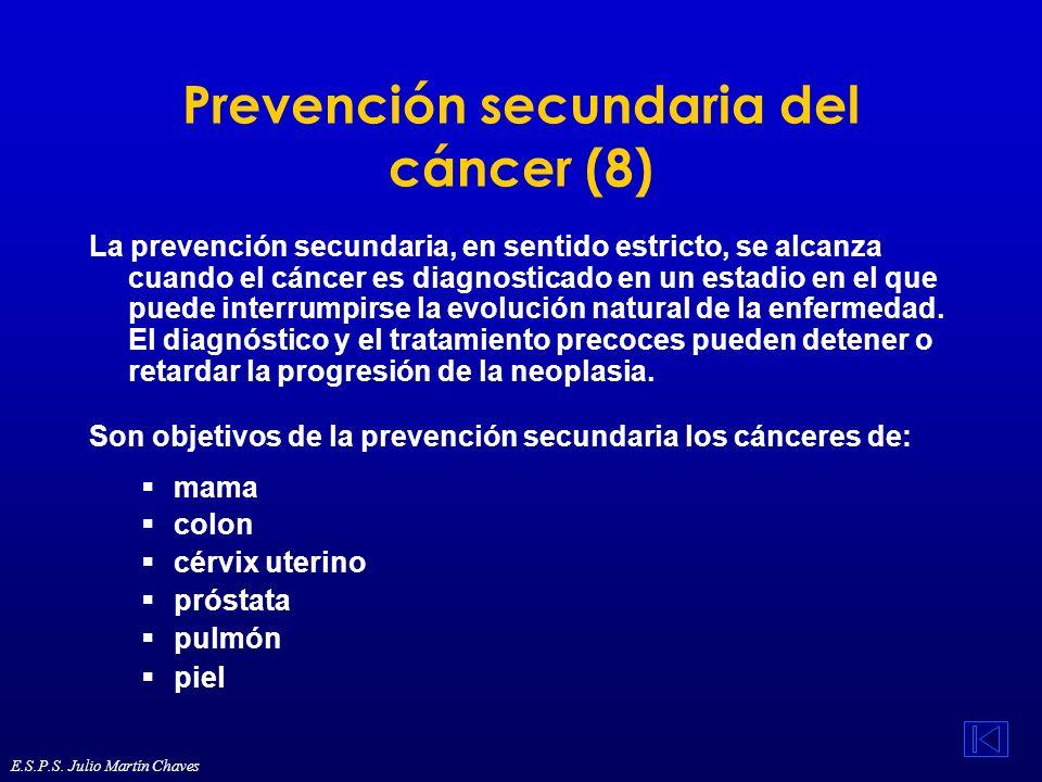 Prevención secundaria del cáncer (8)