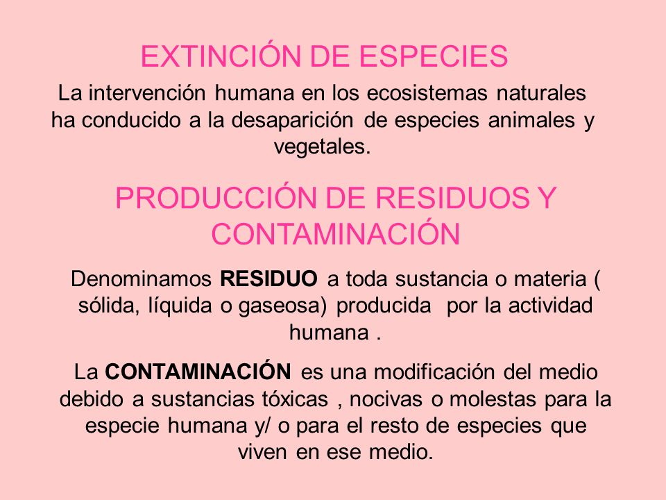PRODUCCIÓN DE RESIDUOS Y CONTAMINACIÓN