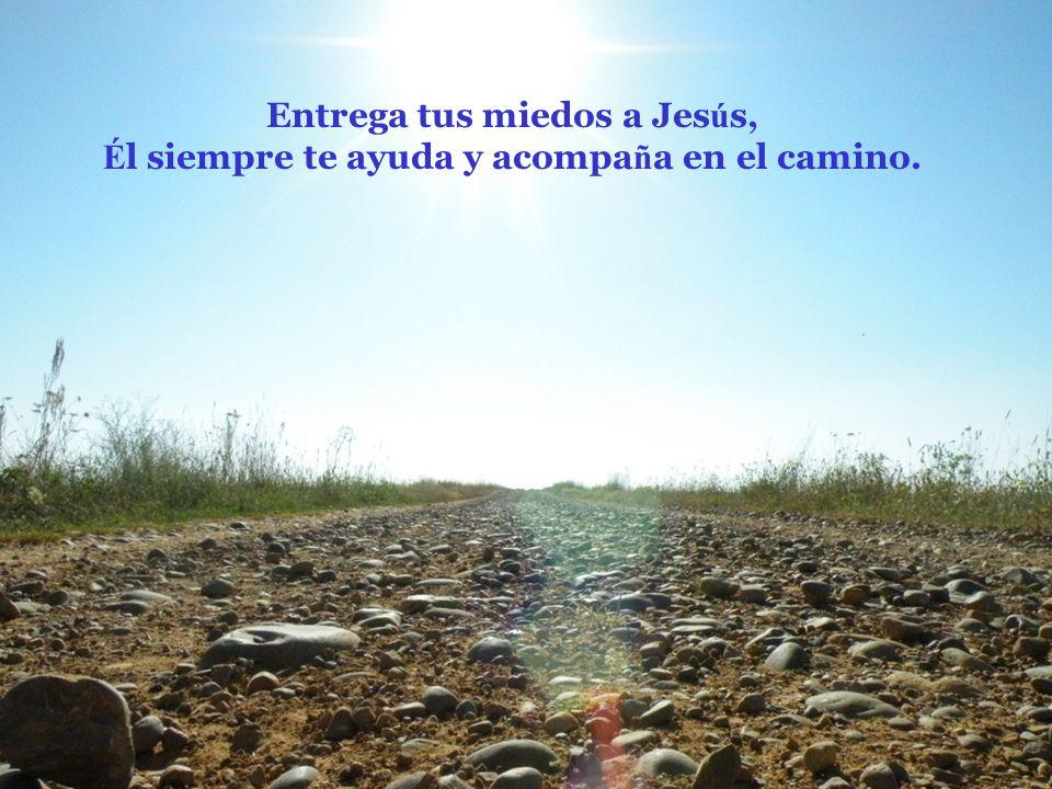 Entrega tus miedos a Jesús, Él siempre te ayuda y acompaña en el camino.