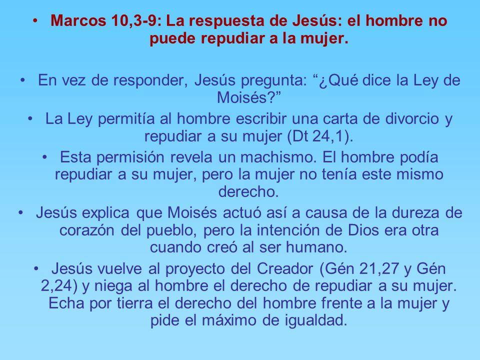 En vez de responder, Jesús pregunta: ¿Qué dice la Ley de Moisés