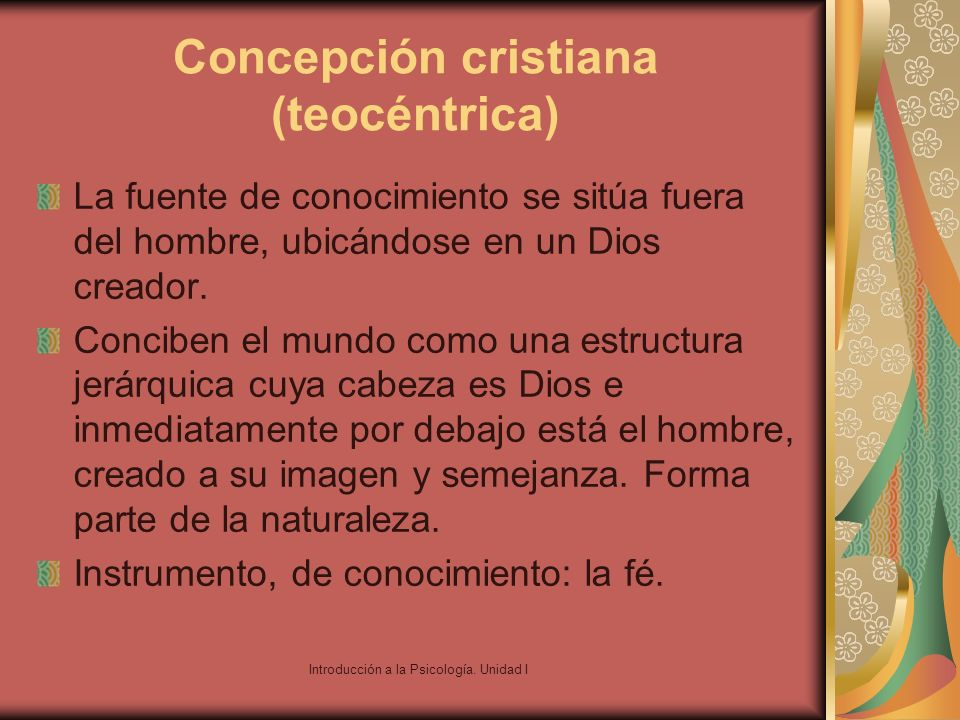Concepción cristiana (teocéntrica)