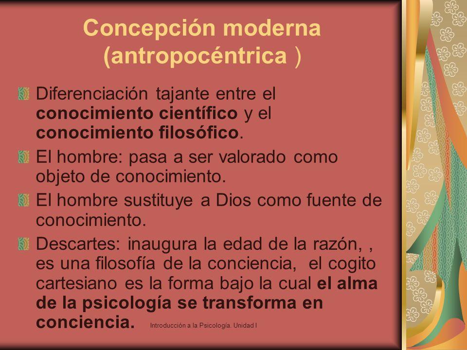 Concepción moderna (antropocéntrica )