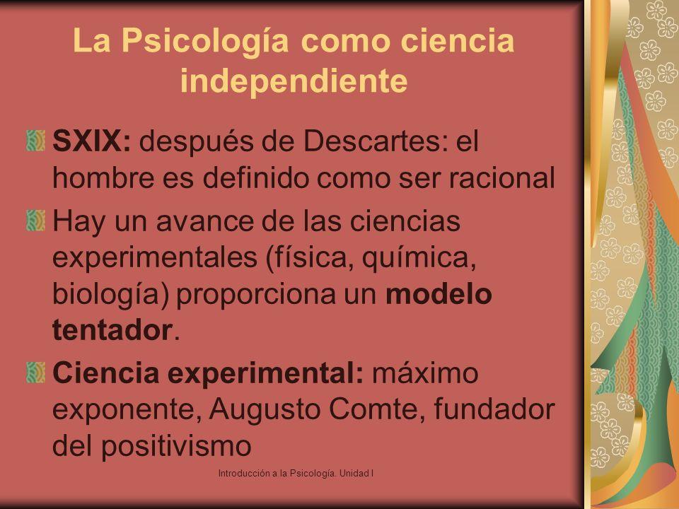 La Psicología como ciencia independiente