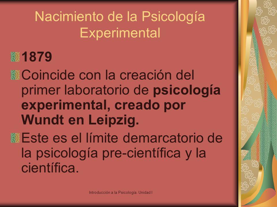 Nacimiento de la Psicología Experimental