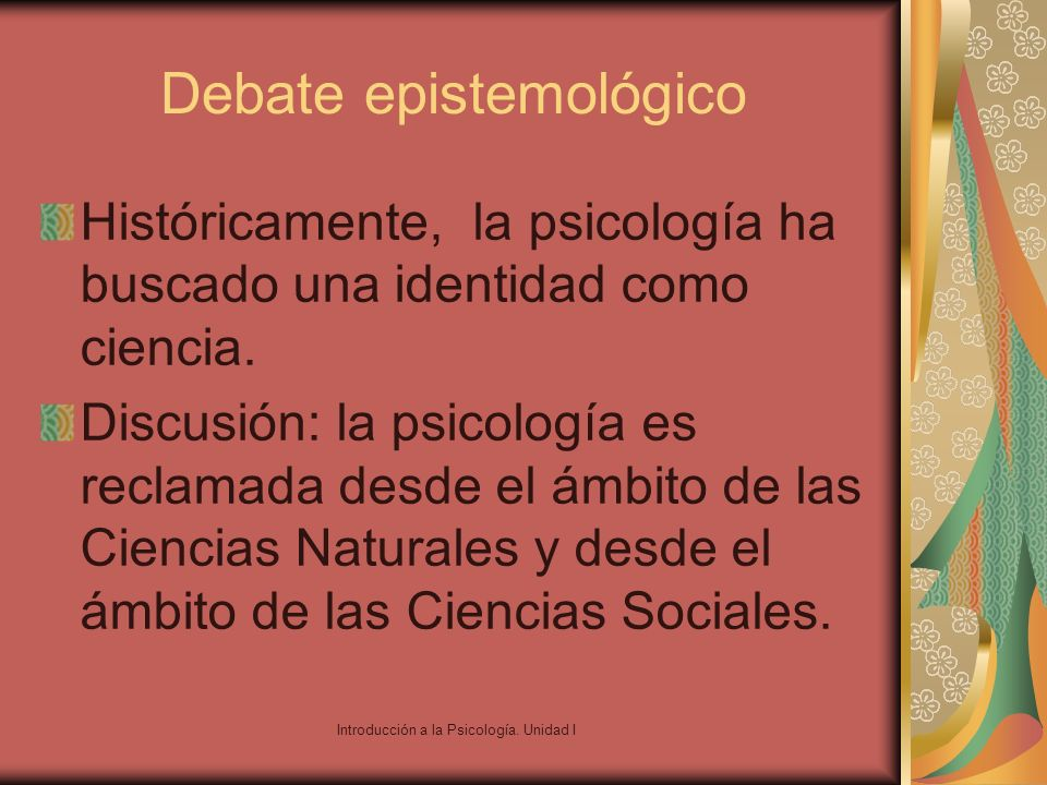 Debate epistemológico