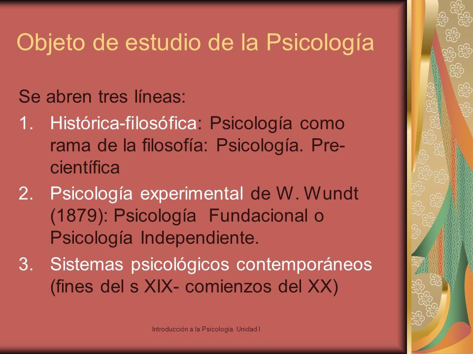 Objeto de estudio de la Psicología
